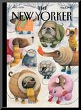 The New Yorker Cover - February 8, 2010 Mounted Print by Ana Juan