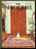 The New Yorker Cover - February 4, 1974 Mounted Print by George Booth