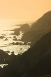 Golden Light on Coastal Hills of Califonia's Big Sur Photographic Print by Anna Miller