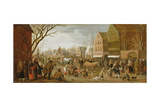 The Procession of Lepers on Copper Monday, 1625 Giclee Print by Joost Cornelisz. Droochsloot
