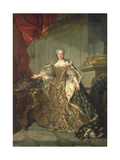 Portrait of Marie Leczinska Giclee Print by Louis M. Tocque