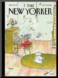 The New Yorker Cover - January 30, 2012 Mounted Print by George Booth