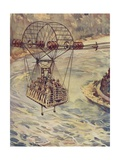 Crossing the Niagara Falls by Cable Car Giclee Print by J. Allen Shuffrey