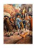 John Wilkes, Seen Here Returning from Paris, Being Saved from Arrest by a Mob of Citizens Giclee Print by C.l. Doughty