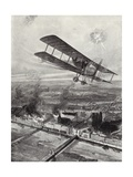 Squadron Leader Spenser Grey Flying over Cologne, 8 October 1914 Giclee Print by W. Avis