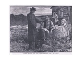 Father Matthew and the Famine Stricken Poor Ad 1845 Giclee Print by Mary L. Gow