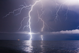 Summer Storm Beginning with Lightning Poster by Leonid Tit