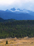 Moraine Park Vista of Rocky Mountains Range with Long's Peak, Colorado, USA Photographic Print by Anna Miller