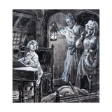 Young Handel Discovered Playing the Harpsichord in the Attic by His Parents Giclee Print by C.l. Doughty