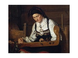 Female Musician, 19th Century Giclee Print by C.l. Doughty
