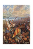 The Landing of William the Conqueror in England, 28 September 1066 Giclee Print by B. Granville Baker
