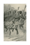 A Maori War-Dance Giclee Print by Stanley L. Wood