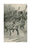A Maori War-Dance Giclee Print by Stanley L. Wood