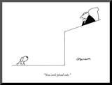 """You can't plead cute."" - New Yorker Cartoon Mounted Print by Charles Barsotti"