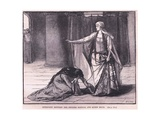 Interview Between the Empress Matilda and Queen Maud Ad 1141 Giclee Print by Mary L. Gow