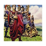 Following the Conquest of Gaul, Julius Caesar Set His Sights on Britain Giclee Print by C.l. Doughty