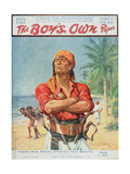 A Pirate Figure from the Front Cover of 'The Boy's Own Paper', 1923 Giclee Print by Stanley L. Wood