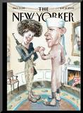 The New Yorker Cover - July 21, 2008 Mounted Print by Barry Blitt