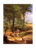 Washing Day Near Perugia, Italy, 1873 Giclee Print by George Snr. Inness