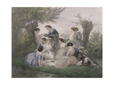 Breakfast in the Spring, Engraved by Regnier, Bettannier and Morlon Giclee Print by A. de Beaumont