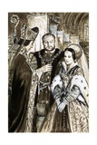 Marriage of Henry VIII and Anne Boleyn Giclee Print by C.l. Doughty