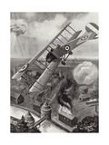 Second Lieutenant L a Strange Bombing the Railway Junction at Courtrai, Belgium, World War I Giclee Print by W. Avis