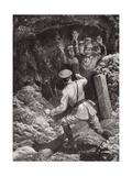 Lieutenant Morland Making Prisoners of Eighteen Germans in a Mine at Givenchy, France, May 1915 Giclee Print by H. Ripperger