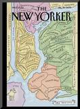"The New Yorker Cover, ""New Yorkistan"" - December 10, 2001 Mounted Print by Maira Kalman & Rick Meyerowitz"