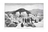 Landing at Eskimo Point, September 29, 1883, Pub. London 1886 Giclee Print by J. Steeple Davis