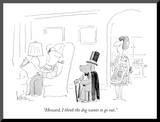 """Howard, I think the dog wants to go out."" - New Yorker Cartoon Mounted Print by Arnie Levin"