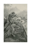 Attack on a Gold Escort Giclee Print by Stanley L. Wood