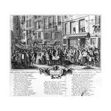 De Regte Afbeelding Der Wind Negotie Gehouden Ni De Straat Van Quinquempoix Tot Parys Giclee Print by Frances C. Fairman