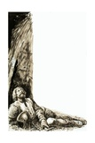 Robert the Bruce Watching a Spider Rebuild its Web Giclee Print by C.l. Doughty