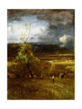 Gathering Clouds, 1890 Giclee Print by George Snr. Inness