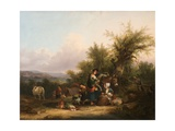 A Group of Gypsies, 1870S Giclee Print by William Snr. Shayer