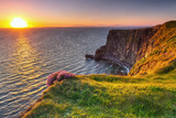Cliffs of Moher at Sunset in Co. Clare, Ireland Photographic Print by Patryk Kosmider