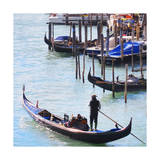 Gondola Mooring, Venice Print by  Tosh