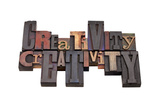 Creativity Word Abstract Prints by  PixelsAway
