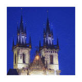 Tyn Cathedral at Night Poster by  Tosh
