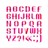 Spectral Letters Folded of Paper Ribbon-Pink Art by  Ecelop