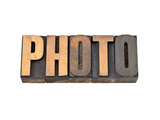 Photo Word   -  Isolated Text in Vintage Letterpress Wood Type Prints by  PixelsAway