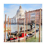 Gritti Palace Gondolas, Venice Posters by  Tosh