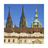 St. Vitus Cathedral & Prague Castle Premium Giclee Print by  Tosh