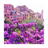 Seaside Village in Liguria Premium Giclee Print by  Tosh
