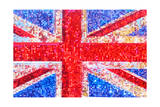 Union Jack Bedazzled Print by  Tosh