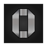 Number Metal Chrome Ribbon - 0 - Zero Premium Giclee Print by  Ecelop