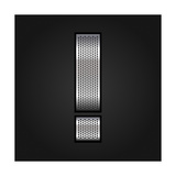 Letter Metal Chrome Ribbon - Exclamation Mark Premium Giclee Print by  Ecelop