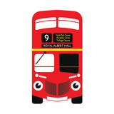 Red from London Prints by  Tosh