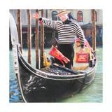 Venice Gondola Print by  Tosh