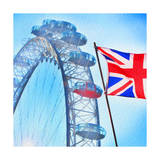 London Eye with Union jack Prints by  Tosh